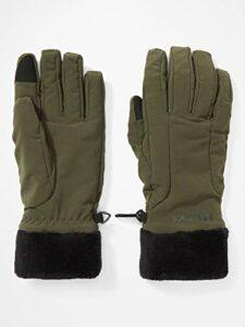 Marmot Wm's Fuzzy Wuzzy Glove Gants de randonnée Softshell, Imperméables au Vent et déperlants Femme Nori FR: M (Taille Fabricant: M)
