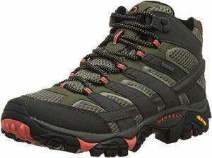 Merrell Moab 2 Mid GTX, Chaussures de Randonnée Hautes Femme, Gris (Beluga/Olive), 39 EU