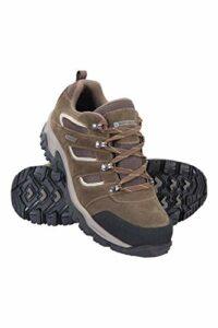 Mountain Warehouse Chaussures imperméables pour Hommes Voyage – Chaussures de randonnée légères, séchage Rapide, Semelle EVA, Maille, Semelle extérieure en Caoutchouc Marron 43