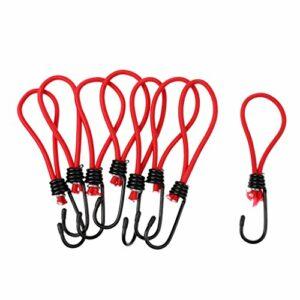#N/A 8 X Crochet de Cordon D'élasticité Sangle Support Corde D'épaule pour Escalade – Rouge, 15 cm