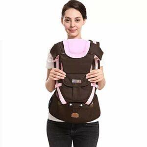 Porte-bébé Porte-bébé, simple et double bandoulière tabouret lombaire, réglable, tous azimuts dispositif de protection de la sécurité des enfants, adapté aux enfants randonnée pédestre, camping, Voyag