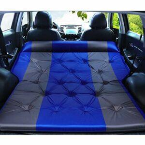 QWASZX Lit Gonflable de Voiture, lit de Voyage de Coffre arrière SUV, avec Oreiller, Pompe, matériel de PVC, pour la randonnée de Camping en Plein air, 132 * 180 * 5 cm / 52 * 71 * 2 Pouces