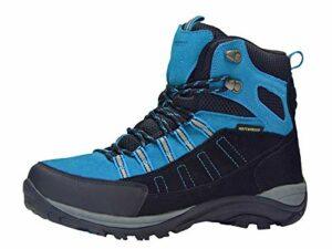 riemot Chaussure de Randonnée Montantes Homme, Bottes de Marche Trekking Escalade Montagne Outdoor Sport Impermeable Légères, Bleu Noir EU 41