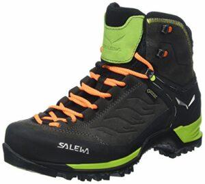 Salewa Ms Mountain Trainer Mid Gore-tex, Chaussures de Randonnée Hautes Homme, Noir (Black/Sulphur Spring), 42 EU