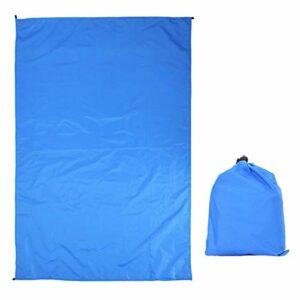 SALUTUYA Empreinte de bâche de Tente Portable Anti-Usure extérieure avec Sac de Transport étanche pour Voyager pour la randonnée Trekking pour la randonnée(Royal Blue 100 * 145 Without Accessories)