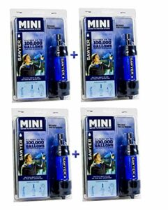 Sawyer Mini – Filtre d'eau pour randonnée, accessoire camping, trekking, MINI set de 4, purificateur d'eau de robinet (MINI set de 4 Bleu)