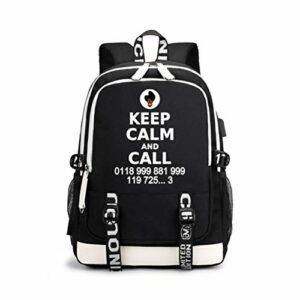 The IT Crowd Sacs à bandoulière Hommes Populaire Styles Sac à Dos Portable School Daypack Mini Sac de randonnée Extérieur Lumière Sac à école élégant Portable Sac de Voyage Hommes