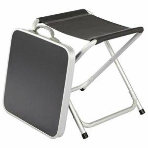Timber Ridge Mini Table de Camping Pliable 2 en 1 Portable Légère Plateau Amovible Chaise de Pêche Pliante Mobilier de Jardin Pique-Nique Pratique