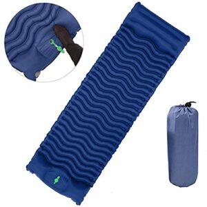 VIVILIAN Matelas de camping gonflable portable – Matelas de camping léger pour randonnée, voyage