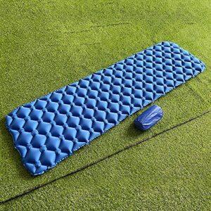 WEVB Matelas gonflable de camping, matelas à air pour extérieur, meubles de lit, coussin ultraléger, coussin de randonnée, trekking (bleu, 60 x 200 cm)