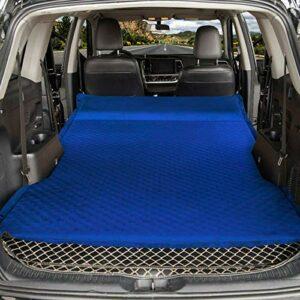 WEVB Matelas gonflable pour voiture, tente, véhicule tout-terrain, lit pliable, portable, voyage, randonnée, coussin d'air, matelas de camping en forme de calebasse (double bleu) 5 cm