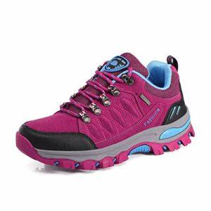 WOWEI Chaussures de Randonnée en Plein Air Imperméable Respirant Antidérapant Bottes de Trekking Promenades Voyages Sneakers pour Femme Hommes