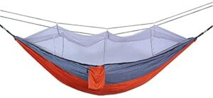 XHLLX Hamac d'extérieur avec moustiquaire, Tente de Camping Anti-moustiques à Double Nylon, Tissu de Parachute, pour l'extérieure Coupe-Vent, Anti-Moustique