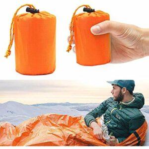 Yumoo Sac de couchage de survie d'urgence, couverture thermique, imperméable et léger, sac en nylon portable pour le camping, la randonnée, les activités d'aventure en plein air