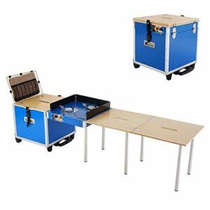 ZHANGYOUDE Cuisine en Plein air Mobile Camping Table Pliante Portable Poêle Selfdriving Équipement de Pique-Nique