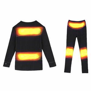 ZY sous-Vêtements Chauffants Électriques pour Hommes, Batterie Au Lithium pour Chauffer Les Vêtements De Randonnée d'hiver,XL