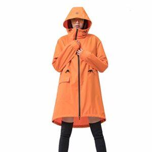 Zylxnt Imperméable Poncho Manteau Adulte Mode Complet du Corps imperméable à l'eau équitation randonnée en Plein air imperméable (Color : Orange, Size : L)