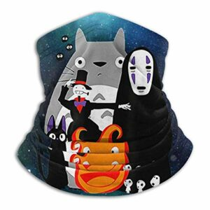 485 Cache-Cou pour Homme Femme,Studio Ghibli Totoro Spirited Away Princesse Mononoke,Écharpe Tube Unisexe Cache-Col Unique Balaclava pour Vélo Course À Pied Escalade