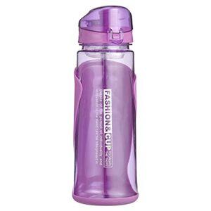 Abaodam Bouteille d'eau en plastique pour vélo de montagne, équitation, bouilloire portable pour sports en plein air (violet)
