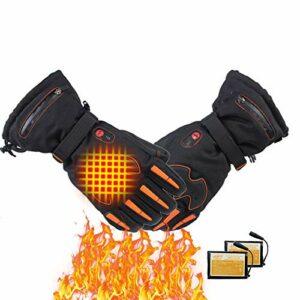 AISHANG Gants Chauffants Batteries Rechargeables pour Hommes et Femmes Cyclisme Moto randonnée Ski Chasse pêche, Hiver réchauffeur de Main soulagement de l'arthrite