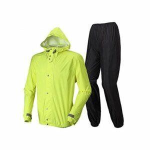 Combinaison de pluie Imperméable imperméable extérieur imperméable imperméable de cyclisme de manteau de pluie de manteau de pluie pour le voyage extérieur, camping, parcs aquatiques, etc. Vêtements d