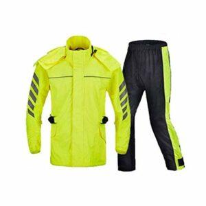 Combinaison de Pluie Le Manteau de Pluie imperméable Convient à la Veste imperméable Adulte Fendue Adulte for Le Camping, Les activités en Plein air, etc. (Color : Fluorescent Yellow, Size : L)