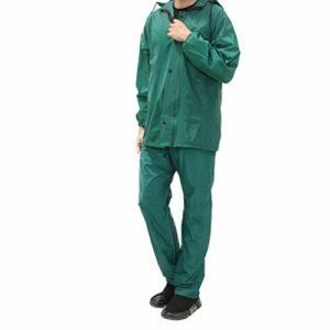 Garneck 1 Set Veste de Pluie avec Pantalon PVC Travail en Plein air Deux pièces imperméables vêtements de Pluie vêtements de Pluie pour la pêche randonnée Escalade