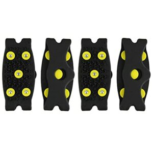 Homoyoyo 2 Paires Crampons Neige Grips Anti Slip Crampons De Traction Pinces Goujons pour Les Femmes Hommes Enfants Escalade Camping Chaussures Bottes