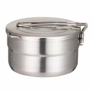 JVSISM Casseroles de Pique-Nique ExtéRieures en Acier Inoxydable 1.5L Montagne Barbecue Cuisson Ustensiles de Cuisine Pots Pliants Cuisine de Camping Portable