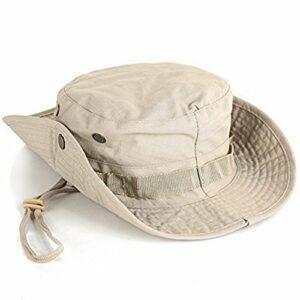 LAAT Chapeau de Soleil Fisherman Bonnet Imprimé Camouflage Randonnée Anti-UV Solaire Toile Femme Homme Voyager Pêche Chapeau