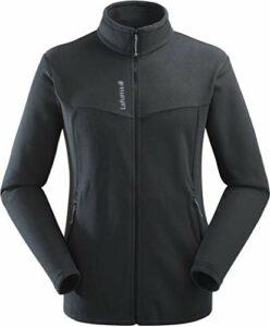 Lafuma – Access Micro F-zip M – Veste Polaire Homme Thermorégulatrice – Tissu Chaud et Respirant – Randonnée, Trekking, Lifestyle – Noir