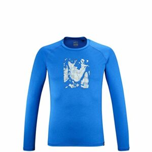 Millet – Track Finder TS LS M – T-shirt Technique Homme – Respirant – Randonnée, Approche, Lifestyle, Bleu (Abyss), M
