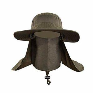 Watchwe Soleil Unisexe en Plein air de Bloc de Soleil à séchage Rapide pêche Chapeau de Soleil Escalade Bucket Hat Chapeaux de Soleil