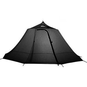 4-8 Personnes Poêle en Toile de Coton Tentes Yourte, Extérieure Portable Étanche Camping Pyramide Pentagonale Tipi Tente Adulte pour Toutes Saisons Glamping en Plein Air,Noir,8 person inner tent