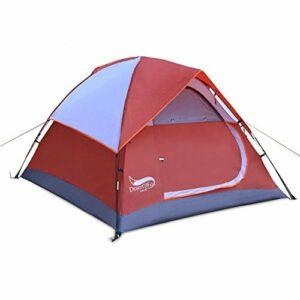 Busirsiz 3-4 Personne Robuste Tente Double Pont Protection Contre la Pluie Tente Backpacking/nécessité d'être Ultraléger Assemblé étanche for la randonnée Camping Voyage Facile à Installer, appropri