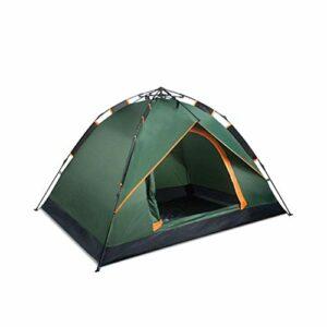 Busirsiz Tente automatique d'extérieur pour 3 à 4 personnes, deux chambres et un hall épaissi, pour 2 personnes en camping sauvage, facile à installer, adaptée pour l'extérieur, la randonnée et