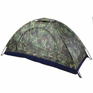 Busirsiz Tente de camouflage imperméable en tissu Oxford monocouche monocouche pour camping en plein air, facile à installer, adaptée pour l'extérieur, la randonnée et