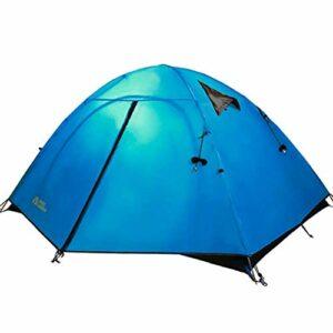 Busirsiz Tente double et trois saisons coupe-vent et imperméable en aluminium facile à installer, adaptée pour l'extérieur, la randonnée et
