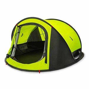 Busirsiz Tente extérieure 2000mm Index étanche 3-4 Personnes automatique Camping Randonnée Tente extérieure double couche étanche Canopy Parasol Activités Tente Beach (Couleur: Vert, Taille: 258 x 157