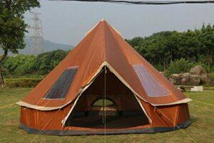 Ultralégère instantanée Pop-Up Exterieur Bivouac Tente丨Etanche丨festival丨Voyage丨plageTente de Camping écran Solaire résistant à la Pluie Occasionnel Chaud, Brun